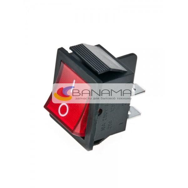 Выключатель сетевой универсальный c красной подсветкой 4 контакта